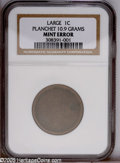 Errors: , Unstruck Large Cent Planchet NGC. 10.9 grams. This Type Twoplanchet has raised rims, golden-brown color, and numerous tiny ...