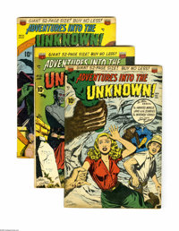 Adventures Into the Unknown Group (ACG, 1951) Condition: Average VG. Six-issue lot features #14, 20, 21, 22, 23, and 25...