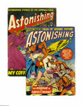 Golden Age (1938-1955):Horror, Astonishing #5 and 6 Group (Atlas, 1951). Included are issue #5(VG-) and 6 (GD+). Covers and art by Bill Everett. Approxima...(Total: 2 Comic Books)