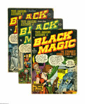 Golden Age (1938-1955):Horror, Black Magic Group (Prize, 1950-52) Condition: Average GD.Five-issue lot includes #4 (VG), 5, 6, V2#1, and V2#2. Featuredar... (Total: 5 Comic Books)