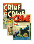 """Golden Age (1938-1955):Crime, Crime Does Not Pay Group (Lev Gleason, 1945-50) Condition: AverageGD. This 12-issue lot features #39, 44 (""""Legs"""" Diamond st...(Total: 12 Comic Books)"""