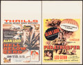 "Movie Posters:Action, Hell Below Zero & Other Lot (Columbia, 1954). Window Cards (2)(14"" X 22""). Action.. ... (Total: 2 Items)"