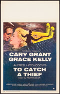 """Movie Posters:Hitchcock, To Catch a Thief (Paramount, 1955). Window Card (14"""" X 22""""). Hitchcock.. ..."""