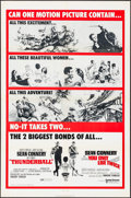 """Movie Posters:James Bond, Thunderball/You Only Live Twice Combo (United Artists, R-1970). One Sheet (27"""" X 41""""). James Bond.. ..."""