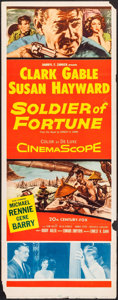 "Movie Posters:Adventure, Soldier of Fortune (20th Century Fox, 1955). Insert (14"" X 36"").Adventure.. ..."