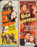 "Movie Posters:Adventure, Headin' for God's Country & Other Lot (Republic, 1943). Inserts(2) (14"" X 36""). Adventure.. ... (Total: 2 Items)"