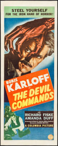 """Movie Posters:Horror, The Devil Commands (Columbia, 1941). Insert (14"""" X 36""""). Horror....."""