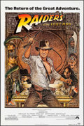 "Movie Posters:Adventure, Raiders of the Lost Ark (Paramount, R-1982). Folded, Fine/VeryFine. One Sheet (27"" X 41"") Richard Amsel Artwork. Adventure...."