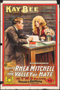 """Movie Posters:Drama, The Valley of Hate (Mutual, 1915). One Sheet (28"""" X 41.75"""").Drama.. ..."""