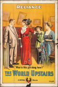 "Movie Posters:Drama, The World Upstairs (Mutual, 1915). One Sheet (27"" X 41""). Drama....."