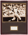 Baseball Collectibles:Others, Mickey Mantle Signed Cut Signature Display....