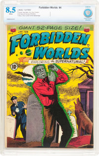 Forbidden Worlds #4 (ACG, 1952) CBCS VF+ 8.5 White pages