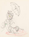 Animation Art:Production Drawing, The Country Cousin Abner and Monty Animation Drawing (WaltDisney, 1936)....