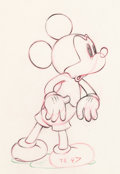 Animation Art:Production Drawing, Society Dog Show Mickey Mouse Animation Drawing (WaltDisney, 1939)....