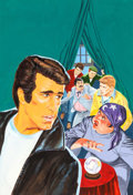 Original Comic Art:Covers, Art Saaf Happy Days #5 Cover Fonzie Original Art (Gold Key,1979)....