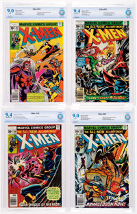 X-Men #104-106 and 108 CBCS-Graded Group (Marvel, 1977).... (Total: 4 Comic Books)