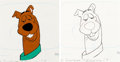 Animation Art:Production Cel, Scooby-Doo Production Cel and Animation Drawing(Hanna-Barbera, c. 1970s).... (Total: 2 )