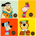Animation Art:Presentation Cel, Fred Flintstone and Friends Portrait Cel Group of 4 (Hanna-Barbera,1968).... (Total: 4 )