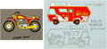 Animation Art:Color Model, Devlin Motorcycle and Van Color Model Cels Group of 2(Hanna-Barbera, 1974).... (Total: 2 )