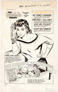 Original Comic Art:Splash Pages, Jack Sparling (attributed) True Bride-To-Be Romances SplashPage Original Art Splash Page (Harvey Comics, 1957)....