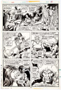 Original Comic Art:Panel Pages, John Buscema and Steve Gan Conan the Barbarian #59 StoryPage 9 Original Art (Marvel, 1975)....