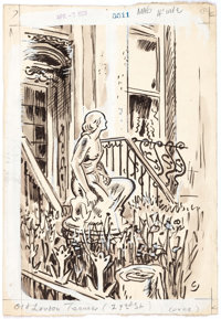 Oscar Cesare Monument in the Piazza Chavez, Old London Terrace, and Others Original Art Group of 11 (c... (Total: 11 Ori...