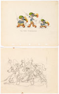 Animation Art:Production Drawing, Three Blind Mouseketeers Illustration Animation Art, GoodHousekeeping Press Proofs, and Press Kit Newslet... (Total: 4Items)