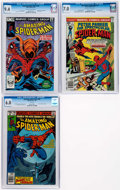 Modern Age (1980-Present):Superhero, Spider-Man Related CGC-Graded Group of 3 (Marvel, 1976-83)....(Total: 3 Comic Books)