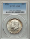 Kennedy Half Dollars, 1966 50C MS66 PCGS. PCGS Population: (220/14). NGC Census: (190/3).Mintage 108,984,928. ...