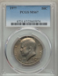Kennedy Half Dollars, 1977 50C MS67 PCGS. PCGS Population: (38/0). NGC Census: (29/1).Mintage 43,598,000. ...