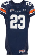Football Collectibles:Uniforms, 2006 Kenny Irons Game Worn & Signed Auburn Tigers Jersey - Used 9/16 vs. LSU....