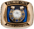 Football Collectibles:Others, 1970 Baltimore Colts Super Bowl V Champions Salesman Sample Ring....