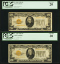 Small Size:Gold Certificates, Fr. 2402 $20 1928 Gold Certificate. PCGS Very Fine 20.. ... (Total: 2 notes)