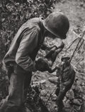 Photographs, W. Eugene Smith (American, 1918-1978). Wounded, dying infant found by American soldier in Saipan Mountains, from A Por...