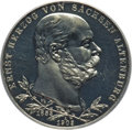 German States:Saxe-Altenburg, German States: Saxe-Altenburg. Ernst I Proof 5 Mark 1903-A PR64 Deep Cameo PCGS,...