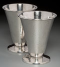 Silver & Vertu:Hollowware, A Pair of Lebolt Hand-Hammered Silver Goblets, Chicago, Illinois, circa 1915. Marks: L, LEBOLT, HAND BEATEN, STERLING, 515... (Total: 2 Items)