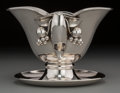 Silver Holloware, Continental:Holloware, A Carl Poul Petersen Silver Gravy Boat, Montreal, Canada, mid-20thcentury. Marks: STERLING, PETERSEN, HAND MADE, (logot...