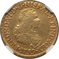 Colombia, Colombia: Ferdinand VI gold 2 Escudos 1759 NR-J VF Details(Polished) NGC,...