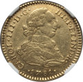Colombia, Colombia: Charles III gold 2 Escudos 1781 NR-JJ AU53 NGC,...
