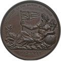 India:Bombay Presidency, India: British India. Settlement of British at Bombaybronzed-copper Medal 1804 MS65 Brown NGC,...