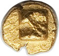 Ancients:Greek, Ancients: IONIA. Uncertain city. Ca. 600-550 BC. EL 96th stater(0.15 gm). NGC (photo certificate) MS 5/5 - 5/5....