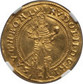 Austria, Austria: Rudolf II gold Ducat 1581 AU Details (Removed fromJewelry) NGC,...