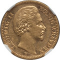 German States:Bavaria, German States: Bavaria. Ludwig II gold 20 Mark 1873-D AU Details(Obverse Scratched) NGC,...