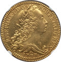 Brazil, Brazil: Jose I gold 6400 Reis 1771-R AU Details (Mount Removed)NGC,...