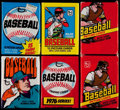 Baseball Cards:Unopened Packs/Display Boxes, 1972 - 1984 Topps Baseball Wax & Cello Packs Collection (11)....