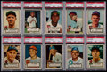 Baseball Cards:Lots, 1952 Topps Baseball PSA EX 5 Graded Collection (10). ...