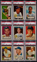 Baseball Cards:Lots, 1952 Topps Baseball PSA VG 3 Graded Collection (9). ...