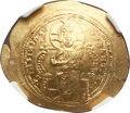 Ancients:Byzantine, Ancients: Constantine X Ducas (AD 1059-1067). AV histamenon nomisma(4.39 gm). NGC MS 4/5 - 3/5, scuffs....