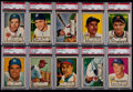Baseball Cards:Lots, 1952 Topps Baseball PSA EX 5 Graded Collection (10) IncludingLow-Numbers. ...