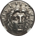 Ancients:Greek, Ancients: CARIAN ISLANDS. Rhodes. Ca. 250-200 BC. AR didrachm. NGCChoice XF....